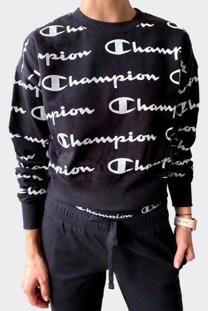Champion dámská logo mikina - černá