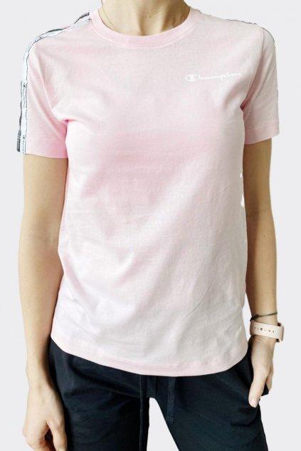 Champion dámské tričko malá loga - růžová