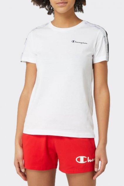 Champion dámské tričko malá loga - bílá