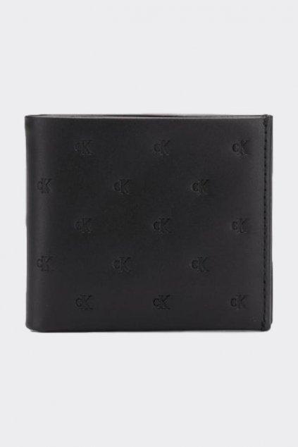 Calvin Klein pánská kožená peněženka s monogramem - černá