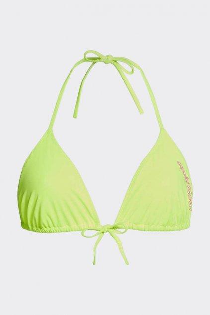 Calvin Klein triangle vrchní díl plavek - neonová