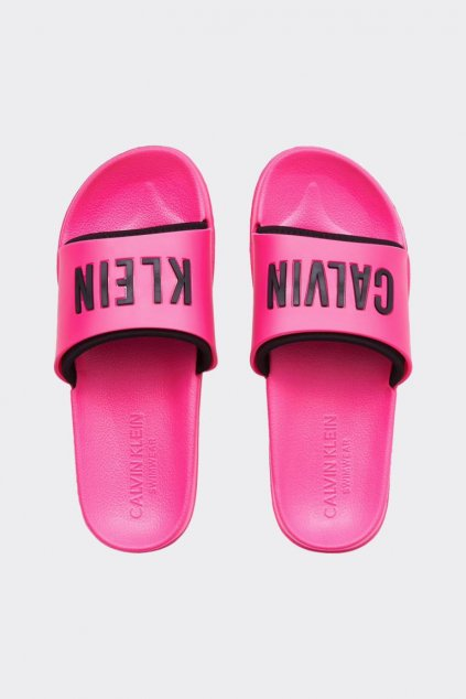 Calvin Klein Intense Power pantofle - růžové
