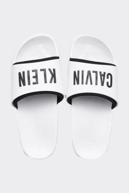 Calvin Klein Intense Power pantofle - bílé