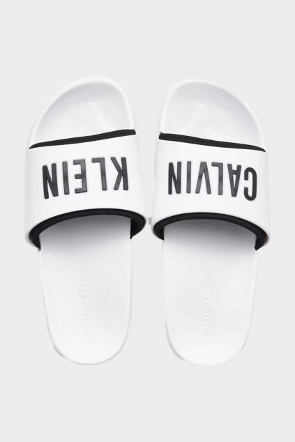 Calvin Klein Intense Power pantofle unisex - bílé