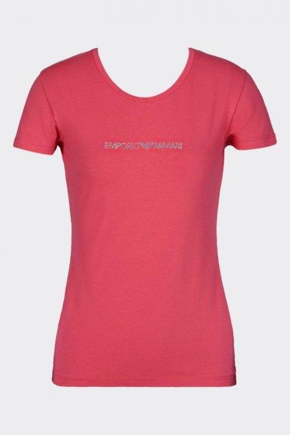 Emporio Armani visibility tričko - korálová