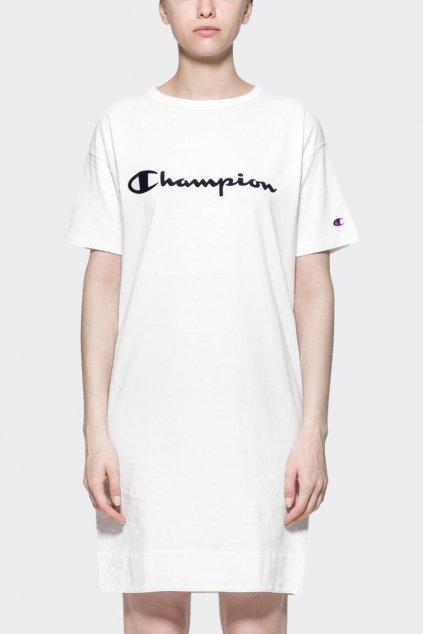 Champion šaty s logem - bílé