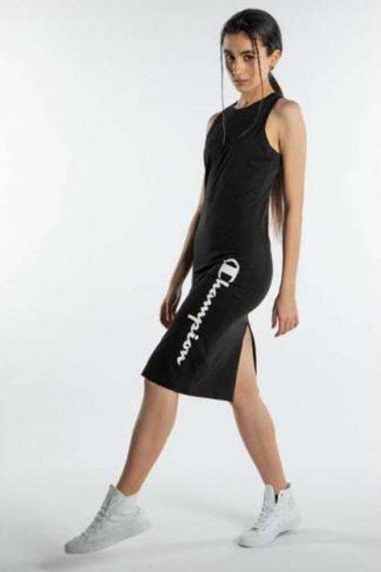 Champion šaty s rozparkem - černé