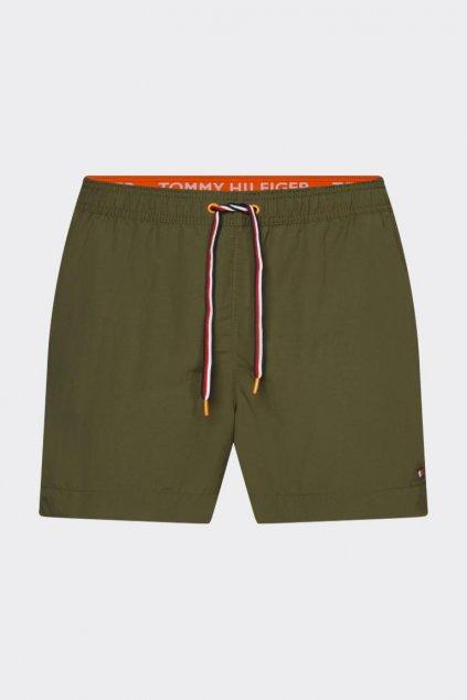 Tommy Hilfiger pánské plavky - khaki