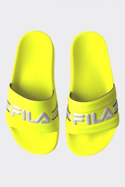 FILA Oceano pantofle dámské - neonově žlutá