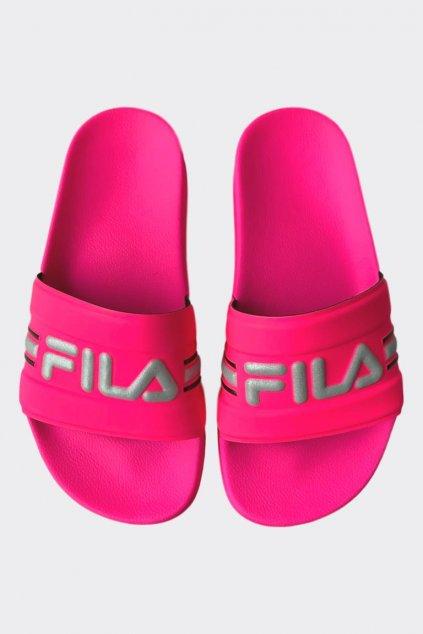 FILA Oceano pantofle dámské - neonově růžová