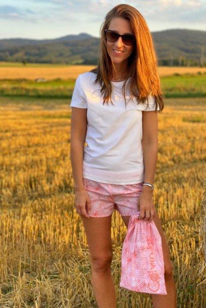 Calvin Klein pyžamo v látkovém pytlíku - růžová