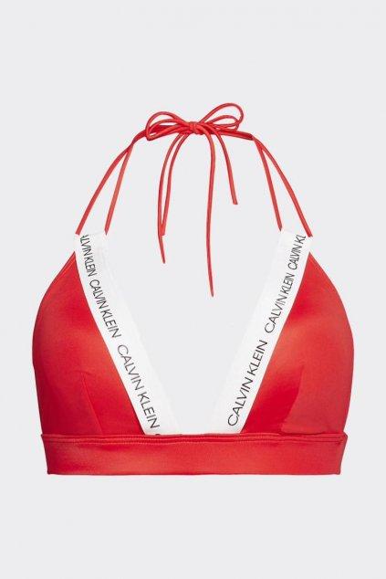 Calvin Klein vrchní díl plavek - červená