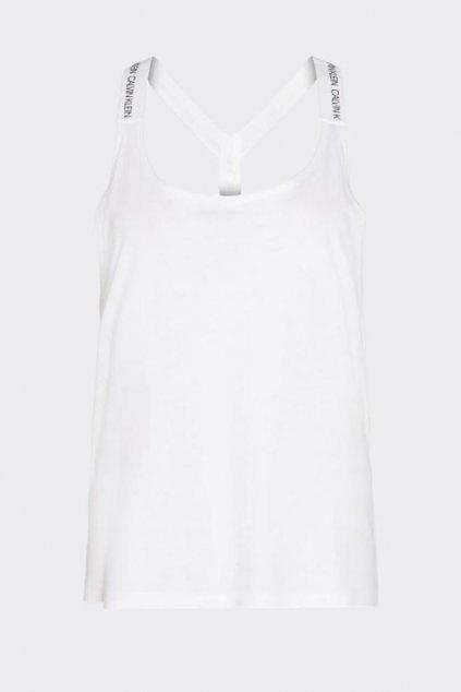 Calvin Klein tílko s logo ramínkami - bílé