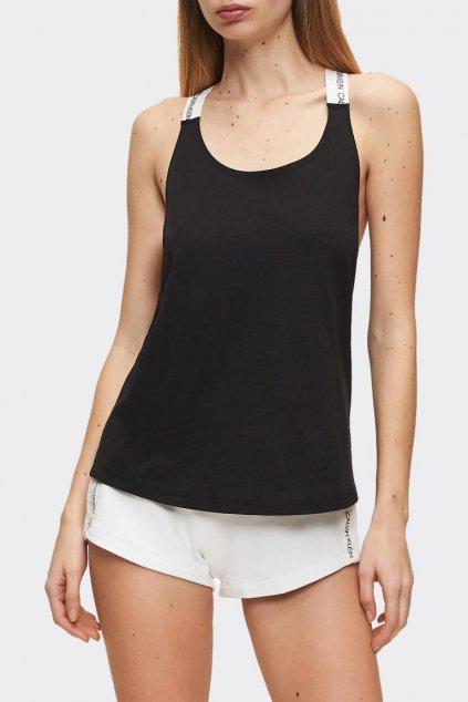 Calvin Klein tílko s logo ramínkami - černé