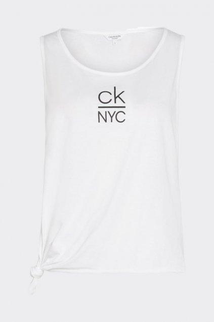 Calvin Klein side knot tílko - bílé