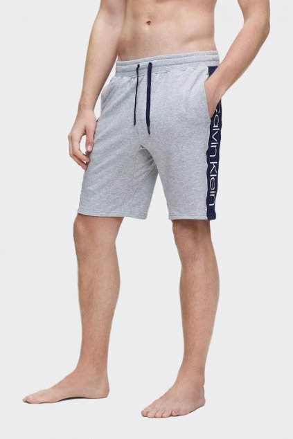 Calvin Klein šortky pánské s modrým pruhem - šedé