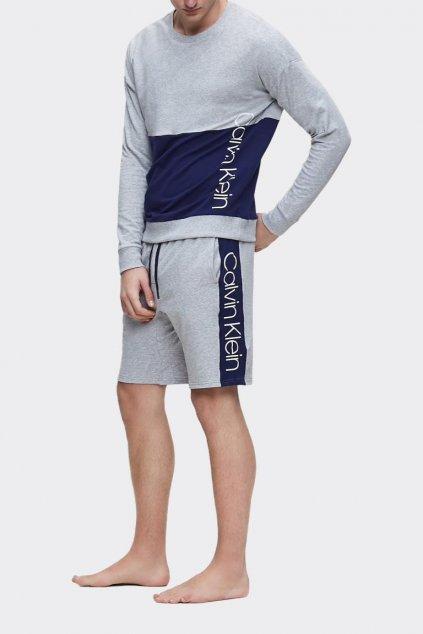 Calvin Klein mikina pánská - šedá/modrá