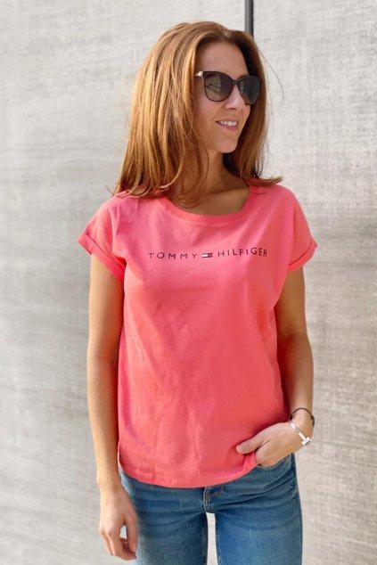 Tommy Original logo tričko dámské - oranžové