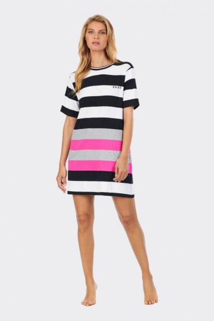 DKNY dámské šaty - bílá, černá, růžová