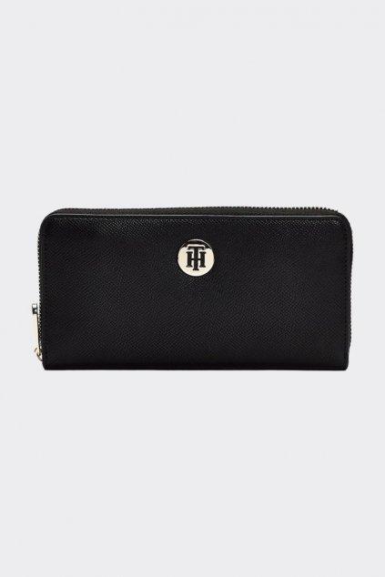 Tommy Hilfiger Honey Large zip monogram peněženka - černá