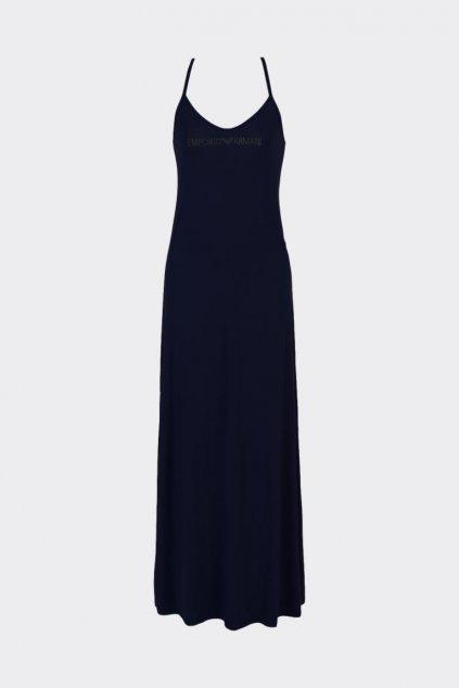 Emporio Armani letní šaty V-neck - černé