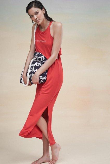 Emporio Armani letní šaty - červené