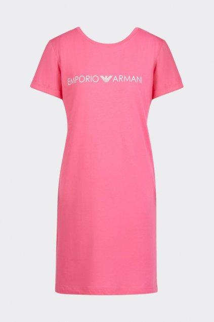 Emporio Armani Logo lover šaty - růžové