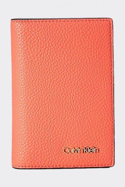 Calvin Klein pouzdro na pas - oranžovo/červená