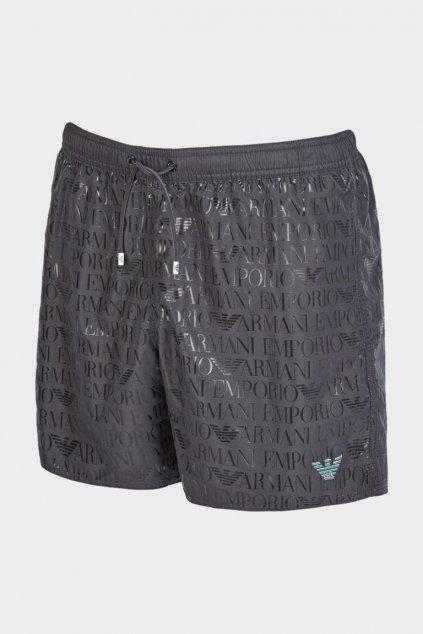 Emporio Armani plavky pánské - tmavě šedé