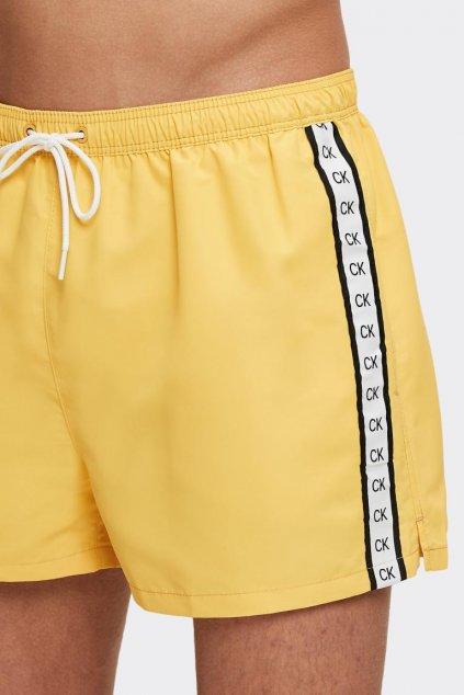 Calvin Klein pánské plavky - žluté
