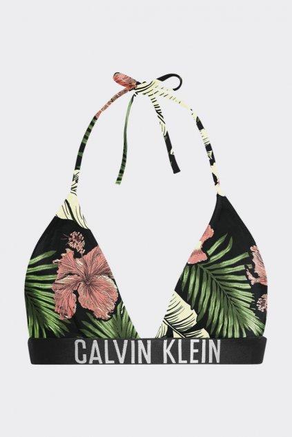 Calvin Klein Intense Power triangle  vrchní díl plavek se vzorem - černá, zelená