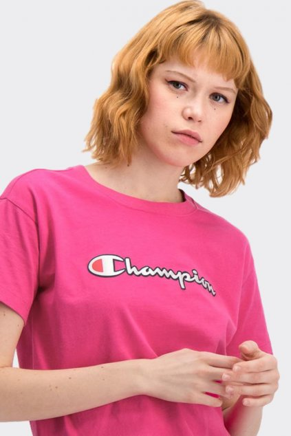 Champion Vintage Script tričko dámské - růžové