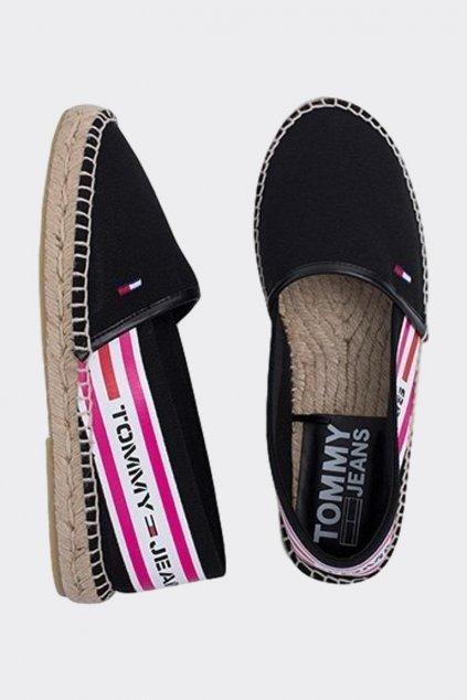 Tommy Jeans espadrilky dámské - černá