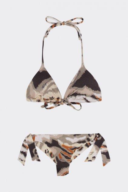 Emporio Armani Tropical Jungle set plavek vrchní + spodní díl -  zvířecí vzor