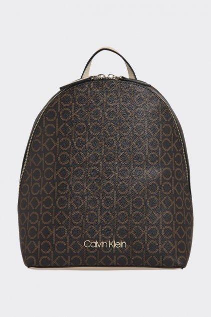 Calvin Klein monogram batoh - hnědý