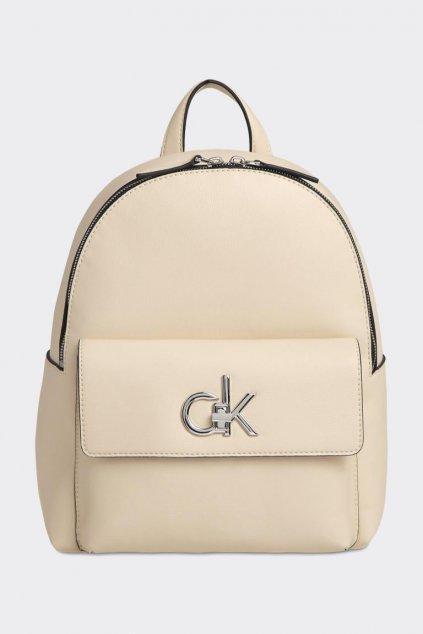 Calvin Klein re-lock batoh - béžová