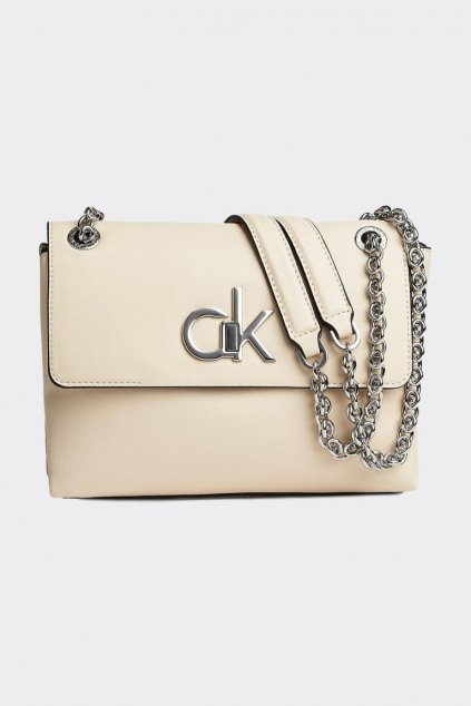 Calvin Klein crossbody kabelka - béžová