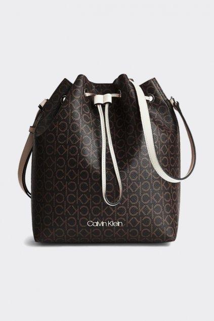Calvin Klein bucket bag kabelka - hnědá