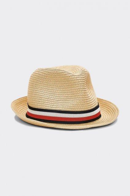 Tommy Hilfiger unisex klobouk - přírodní