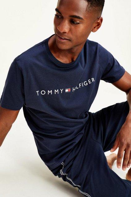 Tommy Hilfiger original Tričko pánské - tmavě modré