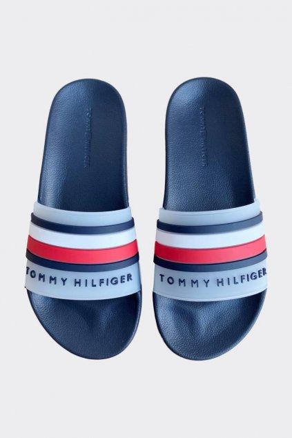Tommy Hilfiger pantofle pánské - tmavě modrá