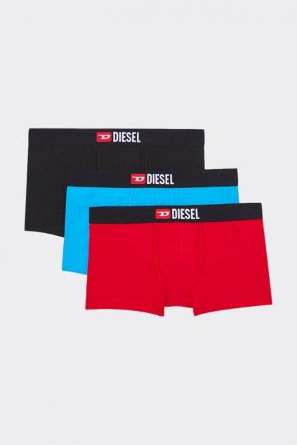 Diesel Logo Boxerky 3 balení - černá, modrá, červená