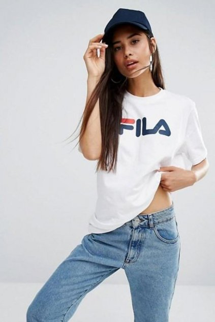 FILA tričko unisex - bílá