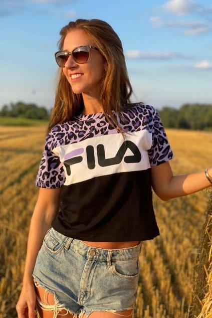 FILA tričko ALLISON dámské - fialová, černá