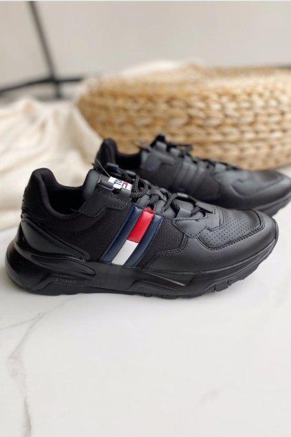 Tommy Jeans chunky tenisky pánské - černé