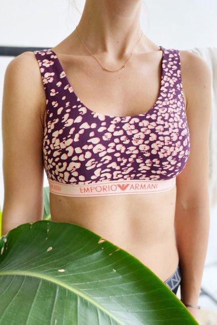 Emporio Armani Fancy Cotton braletka - fialová, meruňková