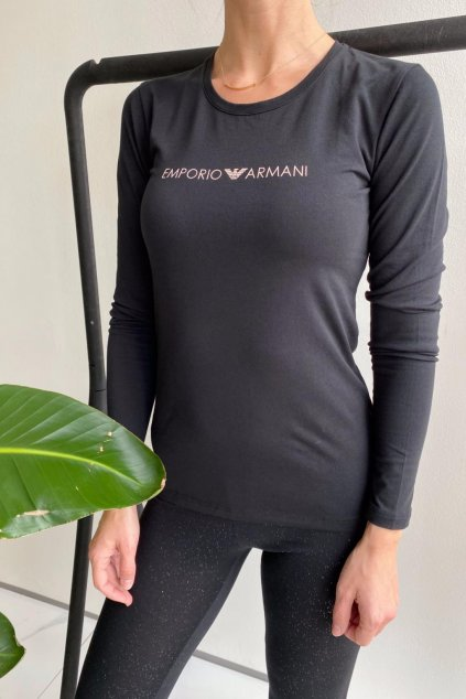 Emporio Armani Fancy Cotton tričko dámské - černá