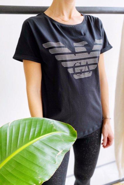 Emporio Armani tričko z organické bavlny dámské - černá