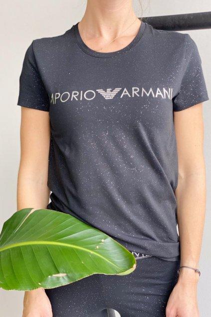 Emporio Armani Stardust Cotton tričko dámské - černé