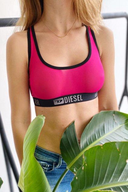Diesel logo braletka - růžová
